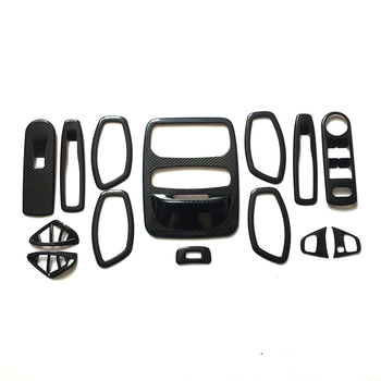 14 PCS ABS steering wheel lift glass Switch handle bowl vent outlet air condition armrest seat read For Renault Captur 2013-2016