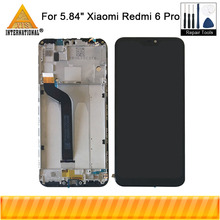 Original Axisinternational For Xiaomi Redmi 6 Pro LCD Screen Display+Touch Digitizer With Frame For Xiaomi A2 Lite MI A2 Lite