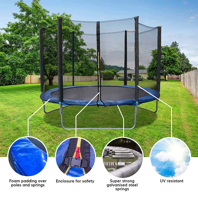 Permalink to Fitness Trampoline With Protection Net Kid's Outdoor Bounce Bed Children Rub Bed Adult Exercise Weight Loss Small Trampoline HWC