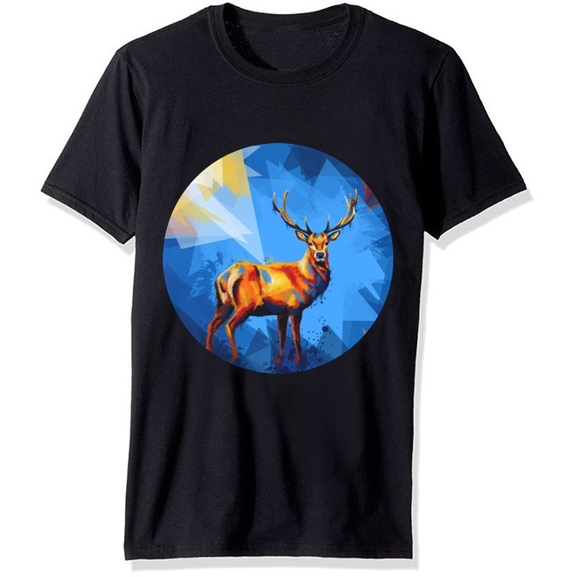Deer In The <font><b>Wilderness</b></font> New Street Style Print Men Women <font><b>T</b></font> <font><b>Shirt</b></font> Casual Loose Short Sleeve O-Neck Summer <font><b>T</b></font> <font><b>Shirt</b></font> For Men image