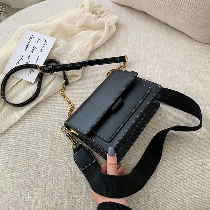 Lammei Leather Crossbody Bags For Women 2019 Travel Handbag Fashion Simple Shoulder Messenger Bag Ladies Cross Body Bag