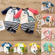 Malapina 2020 bebê recém-nascido meninas do menino macacão roupas de uma peça dinossauro macacão infantil algodão outfit crianças criança traje
