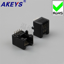 цены 10 PCS 95001-8P8C-90 Degree-Black RJ45 Network Socket 180 Degree Network Socket Crystal Head Base