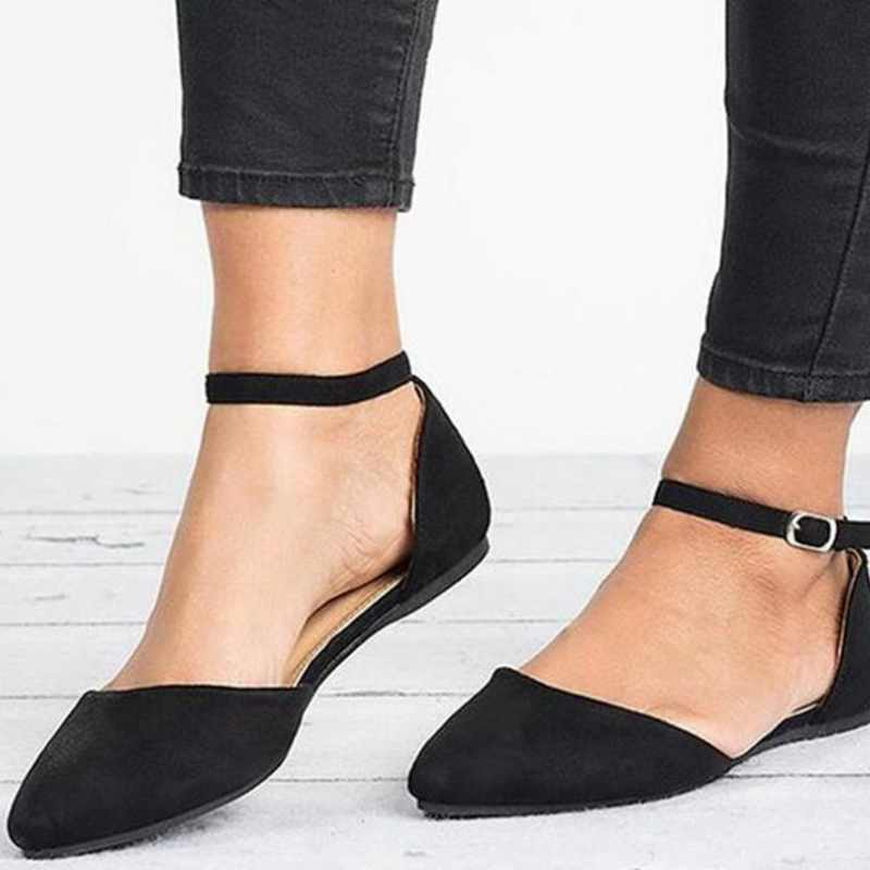 Dihope Flat Shoes Pointed Toe Casual