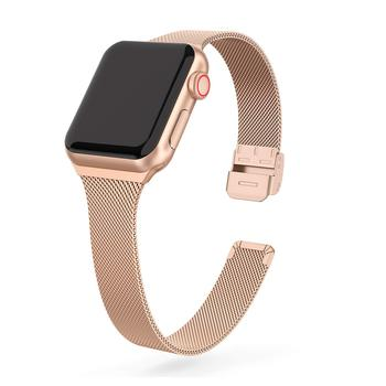 new stainless steel 7 points watch band for apple watch 38mm 42mm iwatch strap black silver rose gold butterfly clasp bracelet strap For Apple Watch band 44mm 40mm Stainless steel metal bracelet correa for Apple watch 6 5 4 3 SE for iWatch band 42mm 38mm