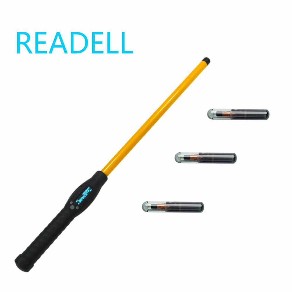 RFID Stick Reader Bluetooth/USB FDX-B HDX handheld portable animal chip scanner for livestock data identification Android app image