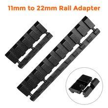 Adaptateur de Rail encliquetable, 1/4/9 fentes 11mm à 22mm, Dovetail à Weaver Picatinny Rail .22/adaptateur de Rail de pistolet à air, accessoires de chasse
