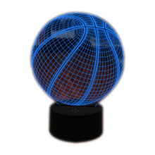 Basketball 3D Night Light, Light Up Basketball Gifts 3D Illusion Lamp with Remote Control 16 Colors Changing