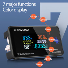 DC 0-200V Voltmeter Ammeter KWS Power Energy Meter LED Digital DC Wattmeter Electric Meter with Reset Function 0-100A
