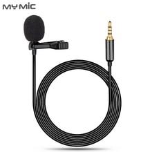 My Mic LJ01 professional omnidirectional karaoke recording lapel clip lavalier microphone for cellphone laptop DSLR