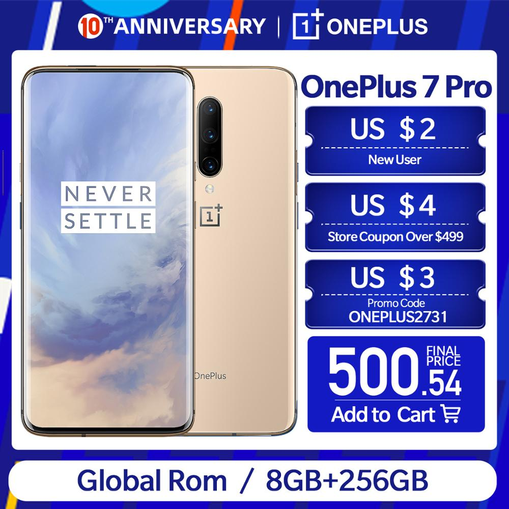 New Global ROM Oneplus 7 Pro 8/6/12GB RAM 128/256GB ROM 6.67
