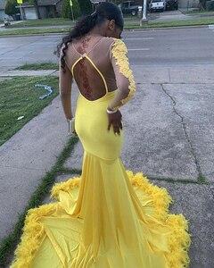 Image 2 - 2020 אלגנטי ערב שמלות סקסי ללא משענת סאטן סגול ארוך רשמי לנשף מסיבת שמלה בתוספת גודל שמלת vestido דה פיאסטה