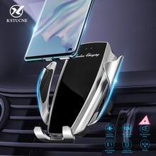 รถสำหรับ iPhone XS MAX XR X 8 Samsung S9 S8 S10 เซ็นเซอร์อินฟราเรดอัตโนมัติ Qi 10W FAST ชาร์จรถผู้ถือโทรศัพท์
