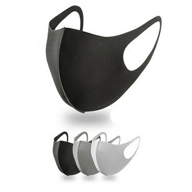 1pcs Unisex Black Mask Soft Cotton Winter Breathing Mask Anti-Dust Earloop Mouth Face Cover Outdoor Riding Dropshipping