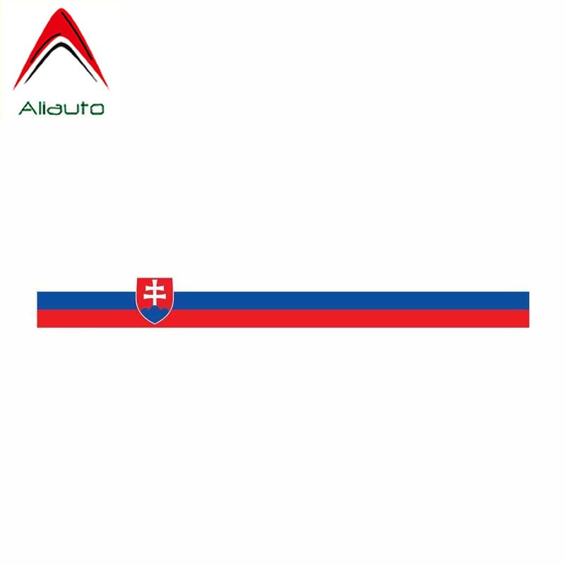Aliauto Personality Car Styling Slovakia Funny Sticker PVC Cover Scratches Decoration Decal Motorcycles Accessories,13cm*2cm