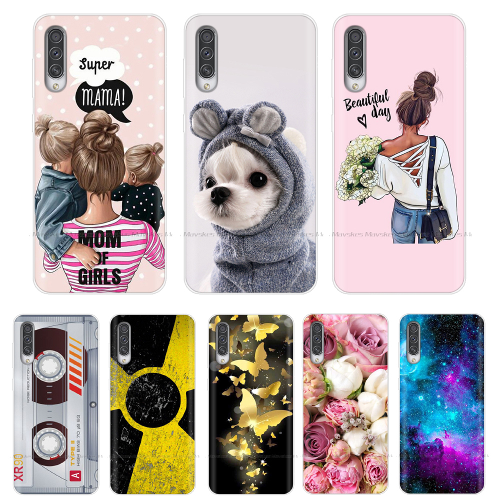 For Samsung Galaxy A30S Case Cute Cartoon Back Cover Silicone Soft Clear TPU Phone Cases For Samsung A30S 2019 Case A 30S Bumper