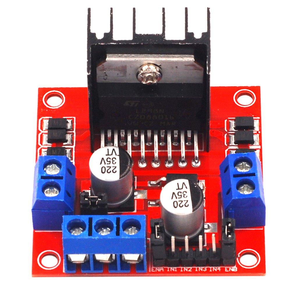 L298N Stepper Motor Driver Board Module Driver Robot Driver Board Smart Car Single Chip Driver Board Module