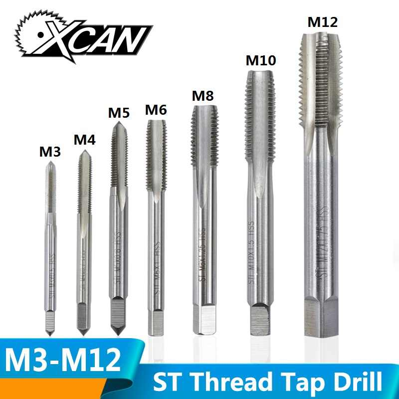 M12 Silver Extended Extra Long HSS Right Hand Threaded Tap Plug Metalwork Tool