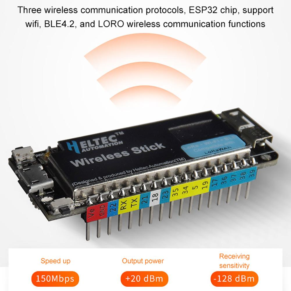 ESP32 Uno LORa Development Board Wireless Stick SX1276 LoRaWAN Protocol WIFI BLE