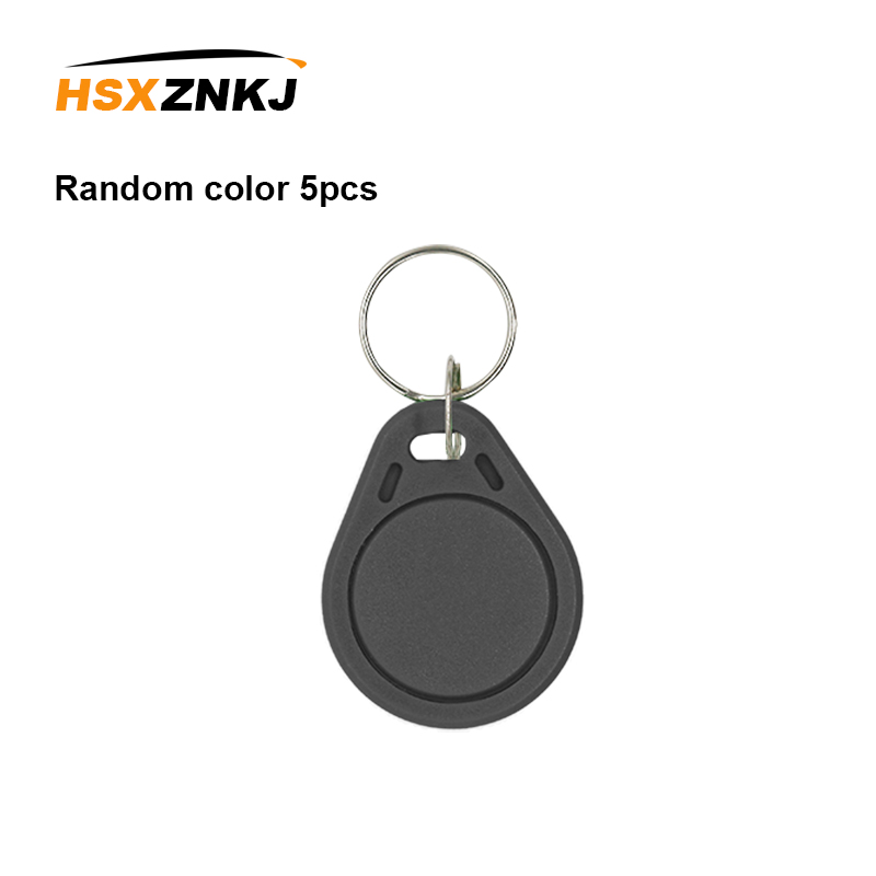 5PCS Color Random 125KHZ RFID Tag Access Control Card Sticker EM4305 T5577 Access Card Replicator Repeated Write Keychain