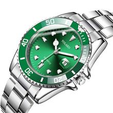 Men Watch 2019 Mens Watches Top Brand Luxury Rolex_Watch In Quartz Green Wristwatches Stainless Steel Waterproof Date Clock Male bobo bird p09 wood and stainless steel watches luminous hands stop watch mens quartz wristwatches in wooden box dropshipping