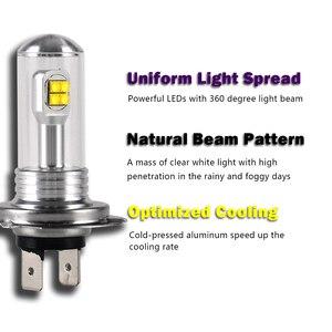 Image 3 - Novsight 2Pcs H7 Led Lamp Mistlichten 3000LM 6000K 12V Wit Drl Dagrijverlichting Auto Lamp Auto licht D45
