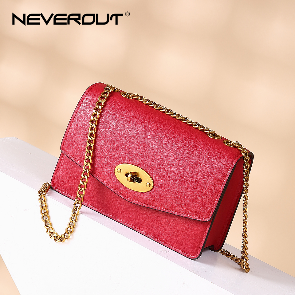 NEVEROUT Ladies Crossbody Bags for Women Split Leather Shoulder Sac Woman Brand Name Solid Flap Small