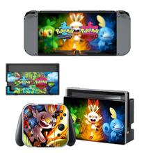 New Pokemon Skin Sticker For Nintendo Switch NS Console Joy-Con Controller Nintendoswitch Game Sticker Vinyl Decals Cover