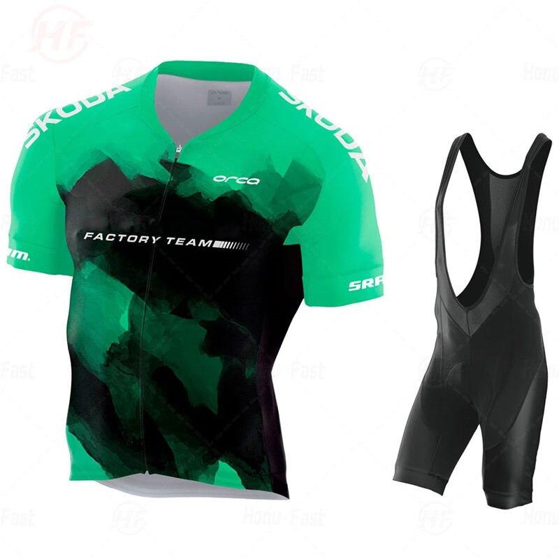 新ボディorbeafulファクトリーチーム 2020 aerosuitサイクリングジャージセット自転車マイヨ通気性ropa ciclismo mtb半袖