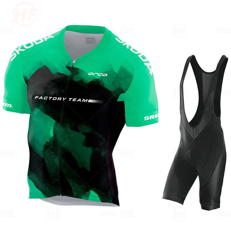 NEW BODY ORBEAFUL FACTORY TEAM 2020 AEROSUIT Cycling Jersey Sets Bicycle Maillot Breathable Ropa Ciclismo MTB Short Sleeve