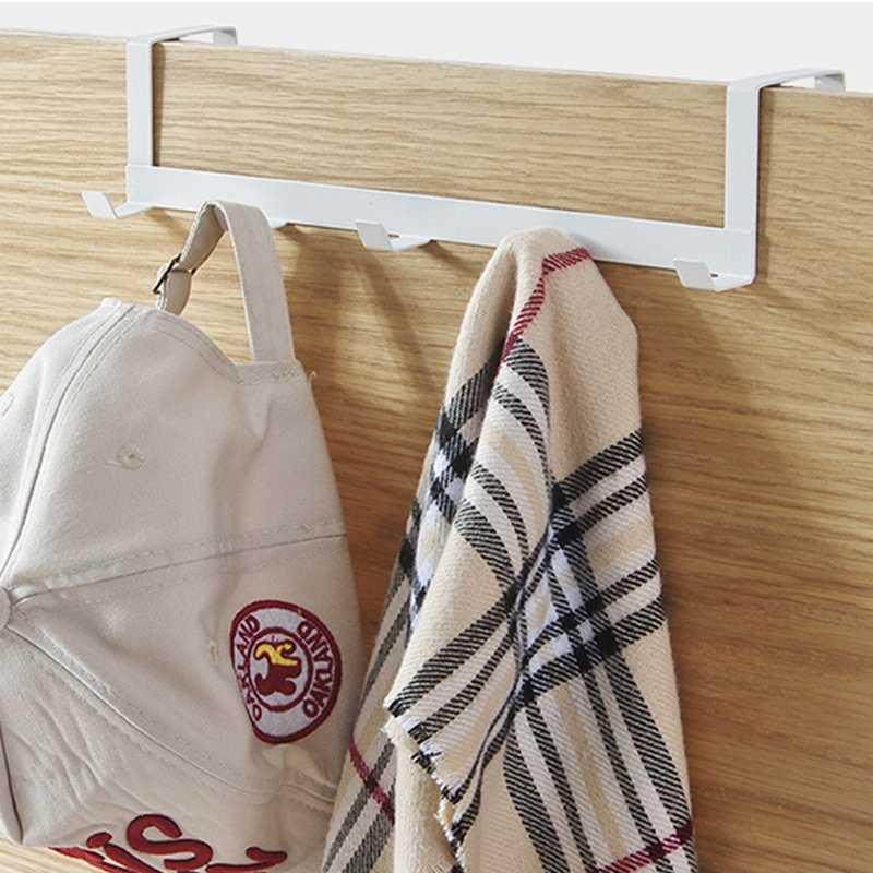Praktische Schmiedeeisen Tür Haken Wand Aufhänger Hut Durable Küche 5 Haken Lager Über 5kg Handtuch Hut Kleidung Wand haken Über Tür