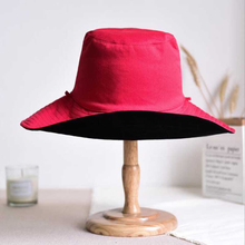 New Simple Men Women Fisherman Hats Couple Bucket Hat Summer Autumn Spring Shade Cotton Caps Double Sided Can Be Worn