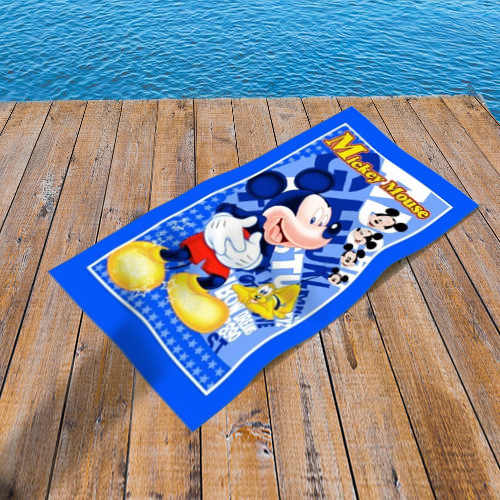Frozen Elsa Blue Beach Towel Swimming Holiday Child Girl 140 x 70cm Disney