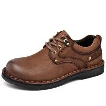 Мужские легкие туфли из натуральной кожи английский стиль повседневные