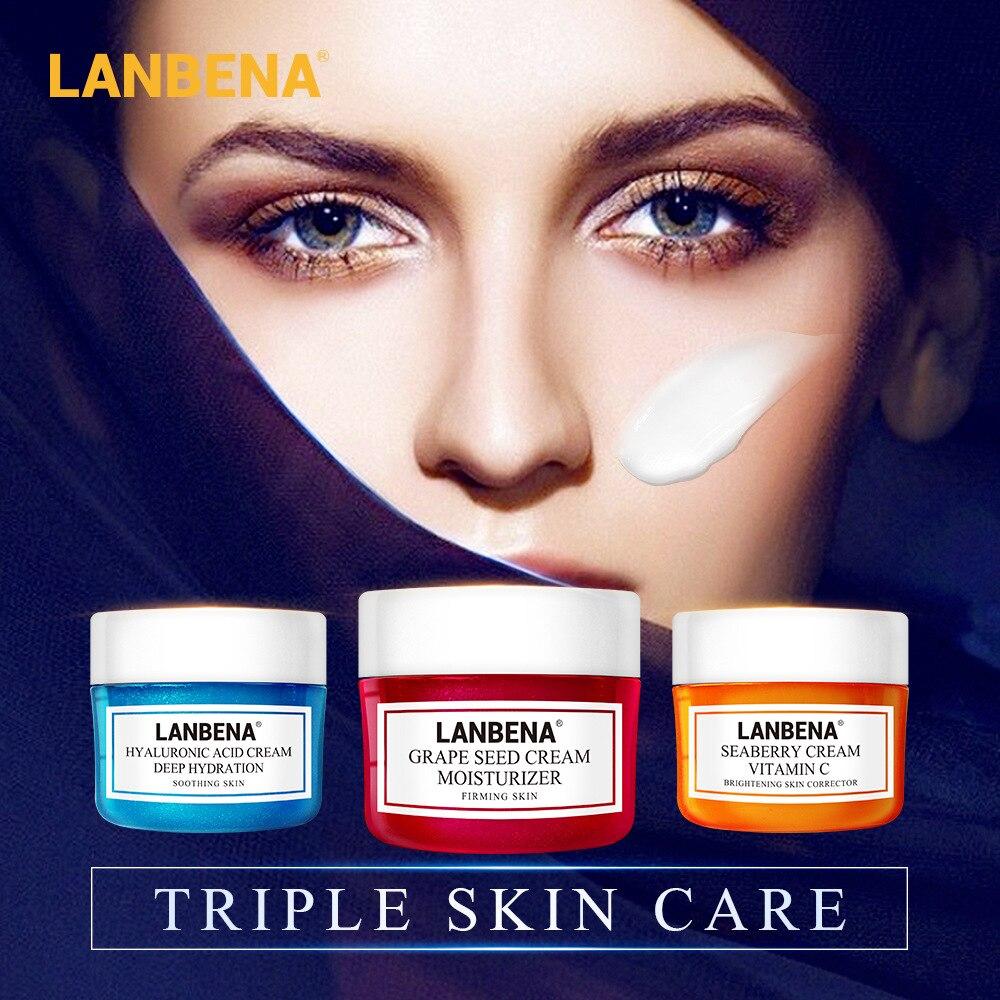 LANBENA Face Cream Whitening Cream Hyaluronic Acid Vitamin C Moisturiz