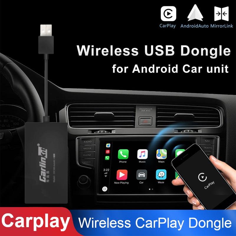 Noir Sans Fil Bluetooth Smart Link Apple CarPlay Dongle pour Navigation Android Lecteur Mini USB Carplay Bâton avec Android Auto