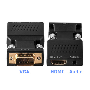 Image 3 - VGA Male to HDMI Female Converter with Audio Adapter Cables 1080P for HDTV Monitor Projector PC PS3