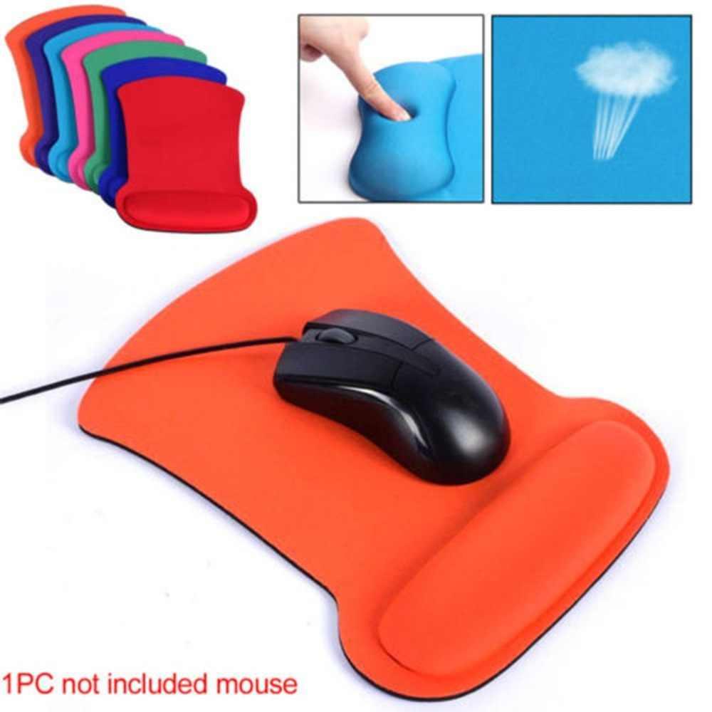Penyangga Pergelangan Tangan Permainan Mouse Mat Non-slip Mousepad Komputer PC Pergelangan Tangan Dukungan Modis Mouse Pad untuk Komputer PC laptop