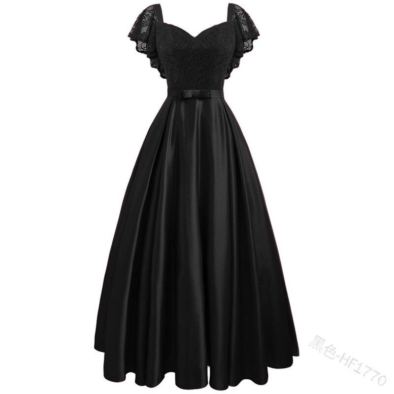 С гофрированными рукавами вечерние атласные со впечатанным цветочным принтом кружевное длинное платье Для женщин короткий рукав сезон: ве...