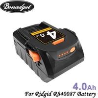 Bonadget 4000mAh 18V Li-Ion para RIDGID R840083 R840085 R840086 R840087 serie Series AEG batería de herramienta eléctrica de la batería recargable