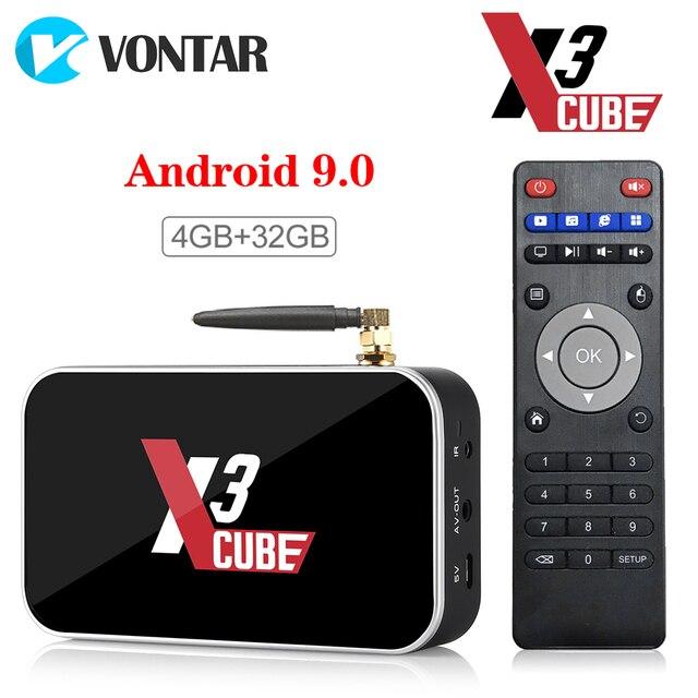 Приставка Smart-TV Vontar Ugoos X3 PRO, 4 Гб, 64 ГБ