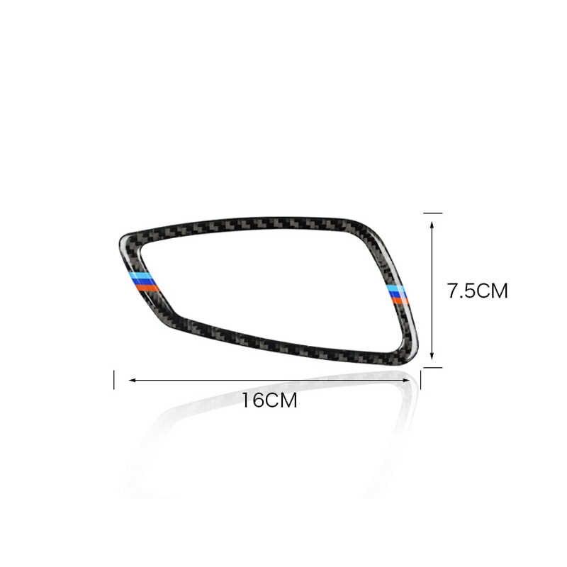 4 pièces/ensemble pour BMW série 3 E90 E92 E93 2005-2012 fibre de carbone voiture porte intérieure poignée cadre garniture garniture voiture style accessoires