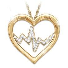 Творческий и изысканные женские ЭКГ «любящее сердце» инкрустированный