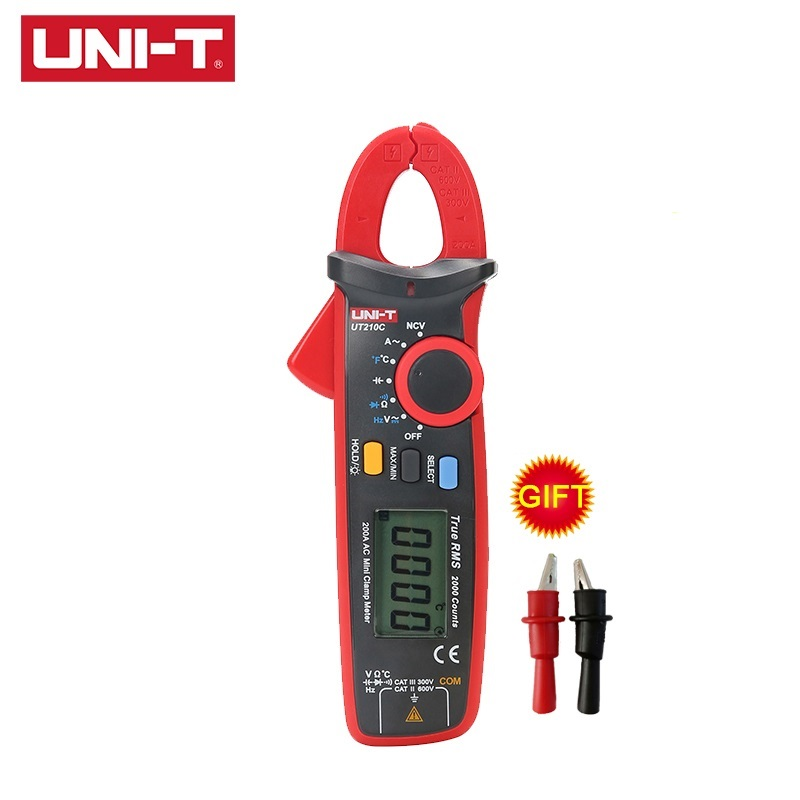 UNI-T UT210E UT210D UT210C UT210B UT210A MINI Digital Clamp Meter True RMS Auto Range AC DC Non Contact Multimeter Tester image