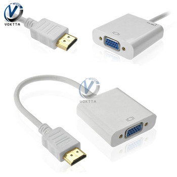 HDMI Male to VGA Female Digital HD Video Converter Adapter Cable for PC Laptop DVD HDTV TV image