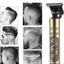 Hair-Clipper Shaver Trimmer Cordless T9 Men Barber Rechargeable Baldheaded 0mm USB