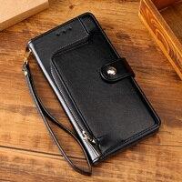 Funda de cuero con cremallera magnética para móvil, carcasa de lujo con ranuras para tarjetas para OPPO RENO 2 3 4 5 Pro 2Z 2F