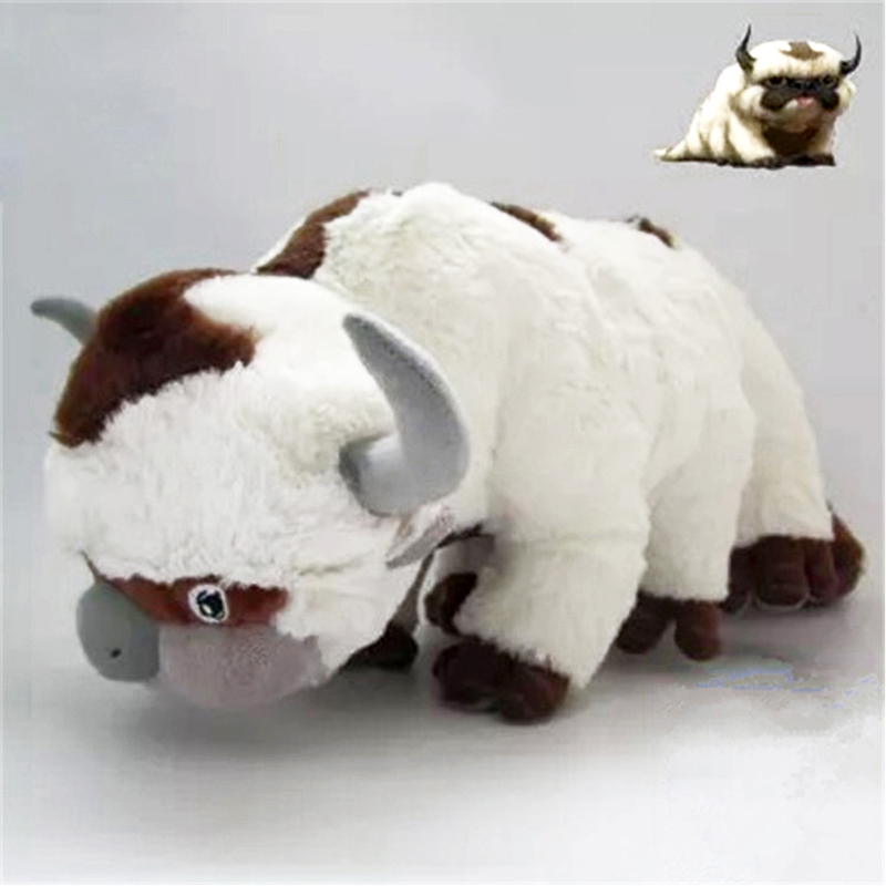 High Quality Plush Stuffed Animals Doll Cow Toys Avatar 2 Aang Resource Appa Avatar Cute Pillow Toys Stuffed Dolls Kids Gifts