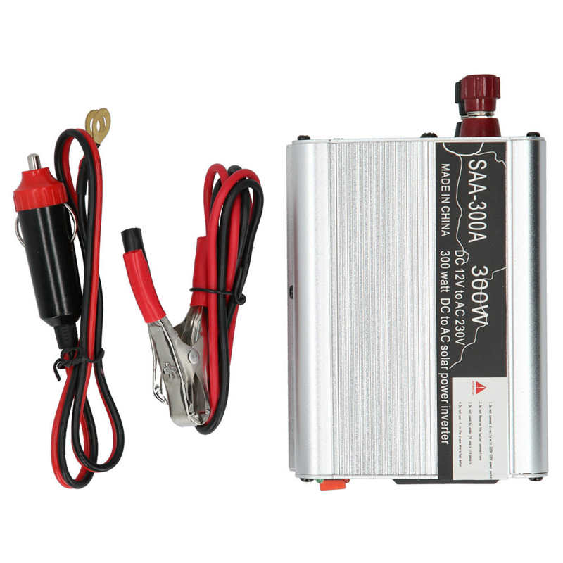ac220v 300w modificado seno conversor de liga aluminio solar 05