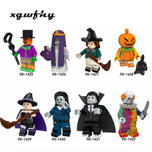 For Halloween Figures Theme Movie Hockey Guy Mask Hunter-Black Friday Jason Scream Killer Jack building blocks Toys JM122